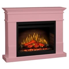 Semineu electric Lisabona Pale Pink cu focar electric 3D Dimplex Optiflame DF2608 si sunet