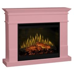 Semineu electric Lisabona Pale Pink cu focar electric 3D Dimplex Optiflame DF3020 si sunet