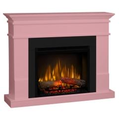 Semineu electric Lisabona Pale Pink cu focar electric 3D Dimplex Optiflame XHD23 si sunet