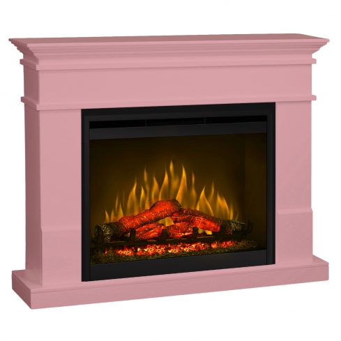 Semineu electric Lisabona Pale Pink cu focar electric 3D Dimplex Optiflame DF2624 si sunet