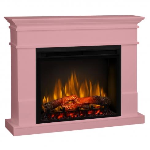 Semineu electric Lisabona Pale Pink cu focar electric 3D Dimplex Optiflame XHD28 si sunet