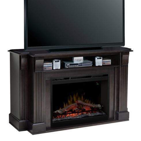 Comoda TV cu Semineu electric Langley Espresso cu focar Dimplex Optiflame FDX-2624L si sunet