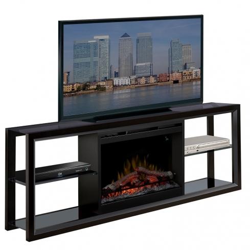 Comoda TV cu Semineu electric Novara Black cu focar Dimplex Optiflame FDX-2624L si sunet