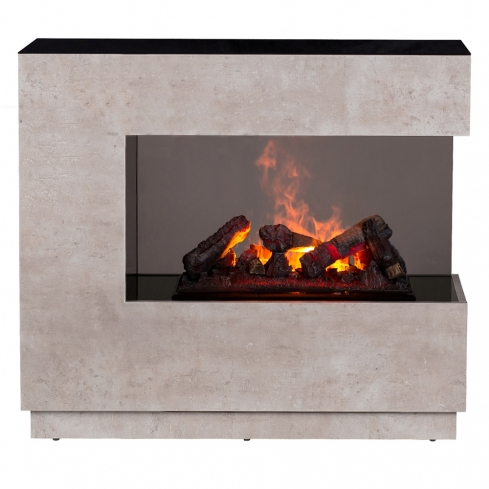 Semineu electric Zen Concrete Piatra cu focar electric 3D Dimplex Opti-Myst FDX-CH400 si sunet